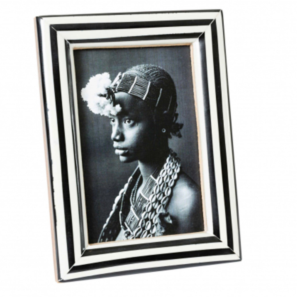 Black & White Striped Frame 4 x 6