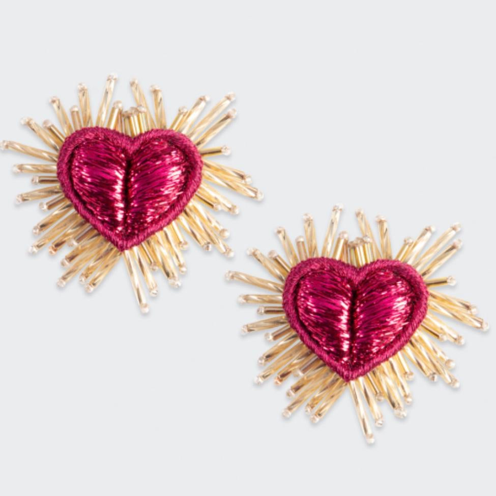 Sparkle Heart Earrings Large