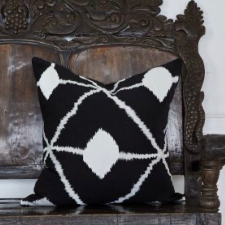 Bedouin Embroidered Linen Cushion