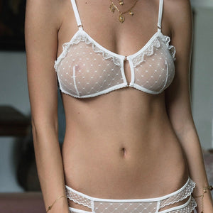 Odette Vertical Seams Bra BA025 White