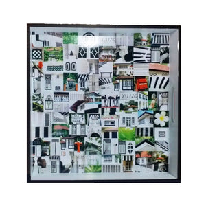 MemoryBoards - Black & White Collage Tray
