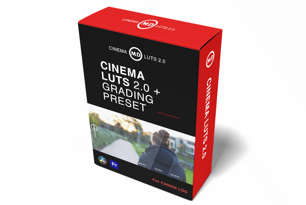 CINEMA LUTS 2.0 - CLOG TRANSFORM LUTS + Grading Preset Bundle
