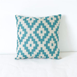 Vintage Geometric Linen Throw Pillow Case Cushion Cover Home Decor