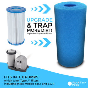 Reusable / Washable Foam Filter For Intex Type A or H Filters