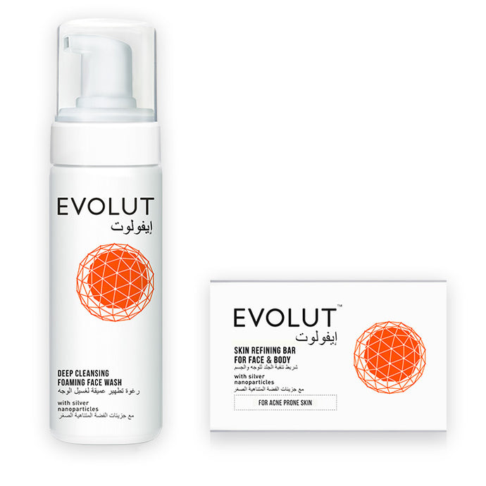 EVOLUT ACNE SOLUTION (SOAP AND FOAM)