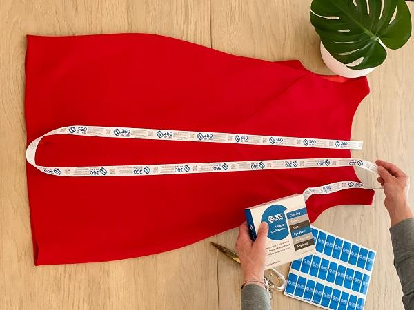 Add a secure return tag to apparel to prevent return fraud 360 ID Tag