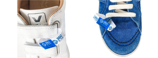Sneaker tag. Shoe return tag prevent wear and return wardrobing, counterfeit product switches 360 ID Tag