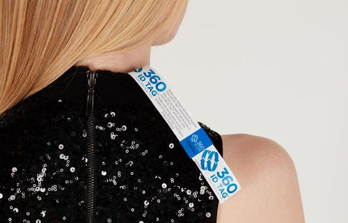 Dress can't be worn and returned with tamper evident return tag 360 ID Tag