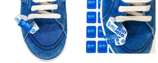 Sneaker tag. Sneaker return tag prevent counterfeit product switches, wear and return wardrobing 360 ID Tag