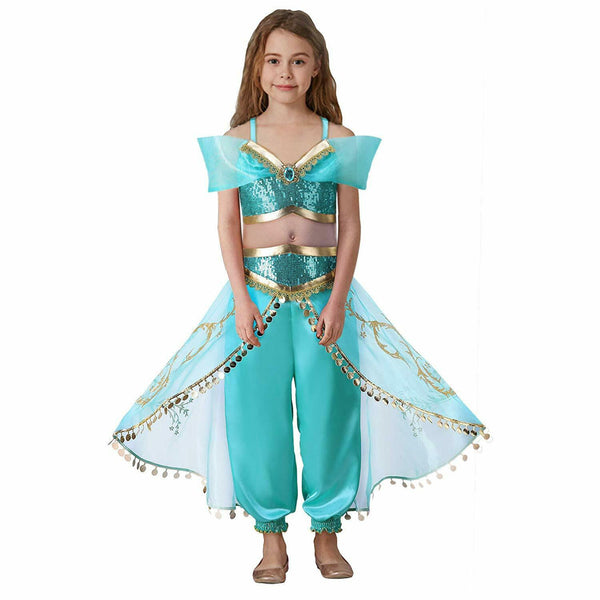 Jasmine Costume for Kids Blue - Aj Costumes - Shopzinia Egypt