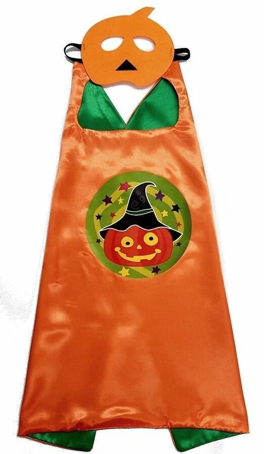 HALLOWEEN CAPE & MASK SET Costume Set Pumpkin-ghost -Aj Costumes