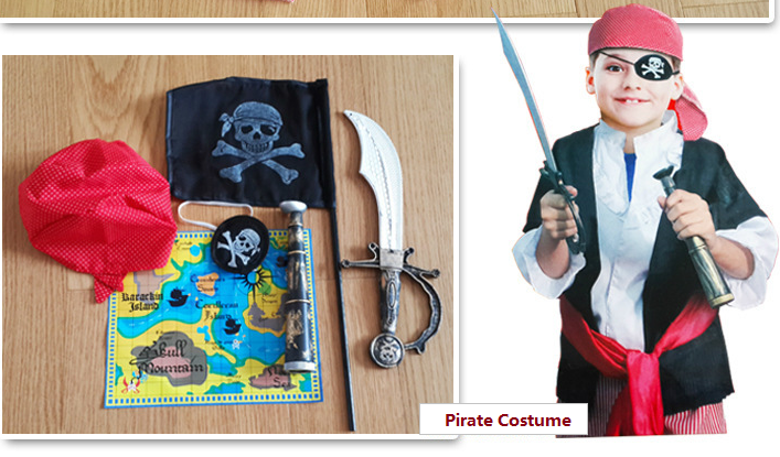 Pirate costume kids -Pirate Dress Up-ghost-Halloween-Aj costumes - Shopzinia Egypt