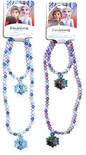 Frozen-1 Necklace and Bracelet Sets with Snowflake Shaped Pendants (1 x Light Blue