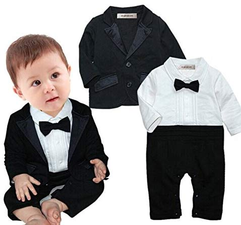 Baby Boss-Baby Boy Tuxedo Romper and Jacket