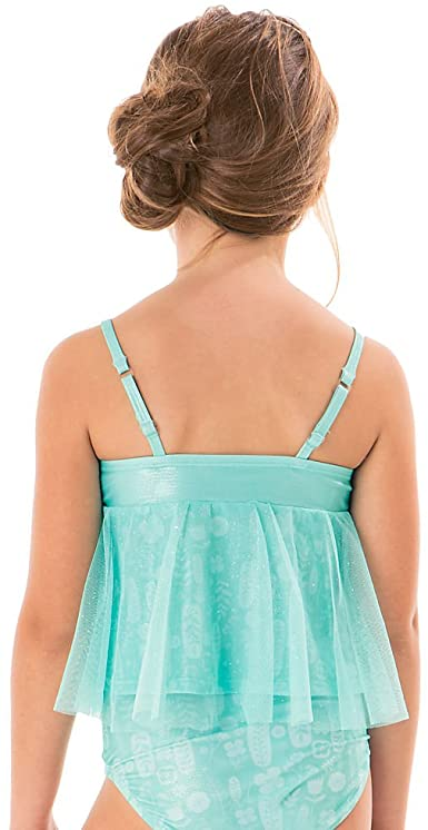 Princess Deluxe Swimsuit for Girls - 2-Piece Blue