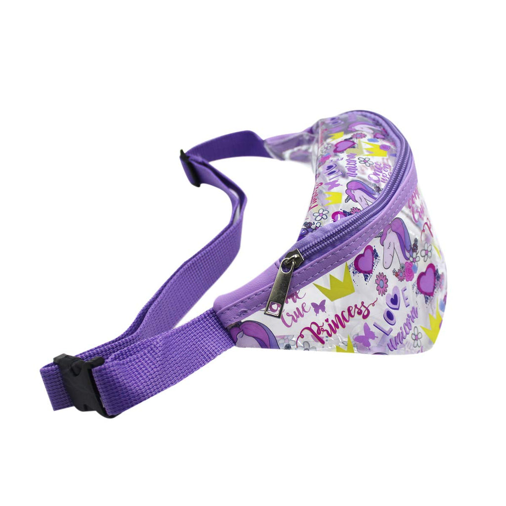 Clear Fanny Pack Waist Bag-Princess Purple Bum Bags for Girls -Aj Costumes - Shopzinia Egypt