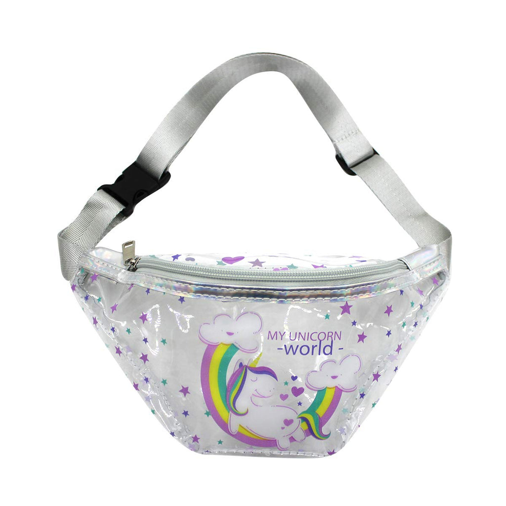 Clear Fanny Pack Waist Bag-My Unicorn world Bum Bags for Girls -Aj Costumes - Shopzinia Egypt