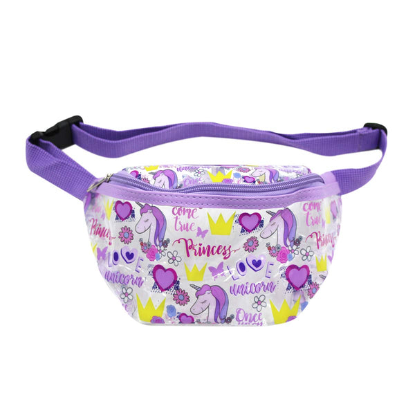 Clear Fanny Pack Waist Bag-Princess Purple Bum Bags for Girls -Aj Costumes
