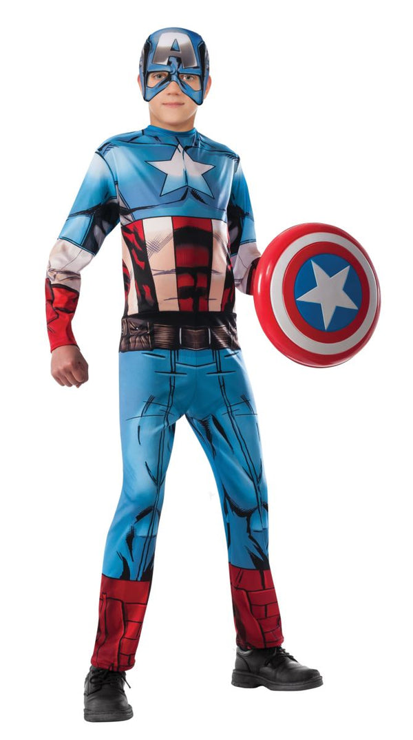 Rubies-Kids Captain America Costume