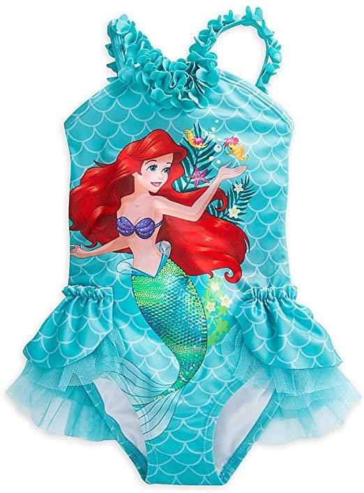 Mermaid Deluxe Swimsuit for Girls - 1-Piece Blue