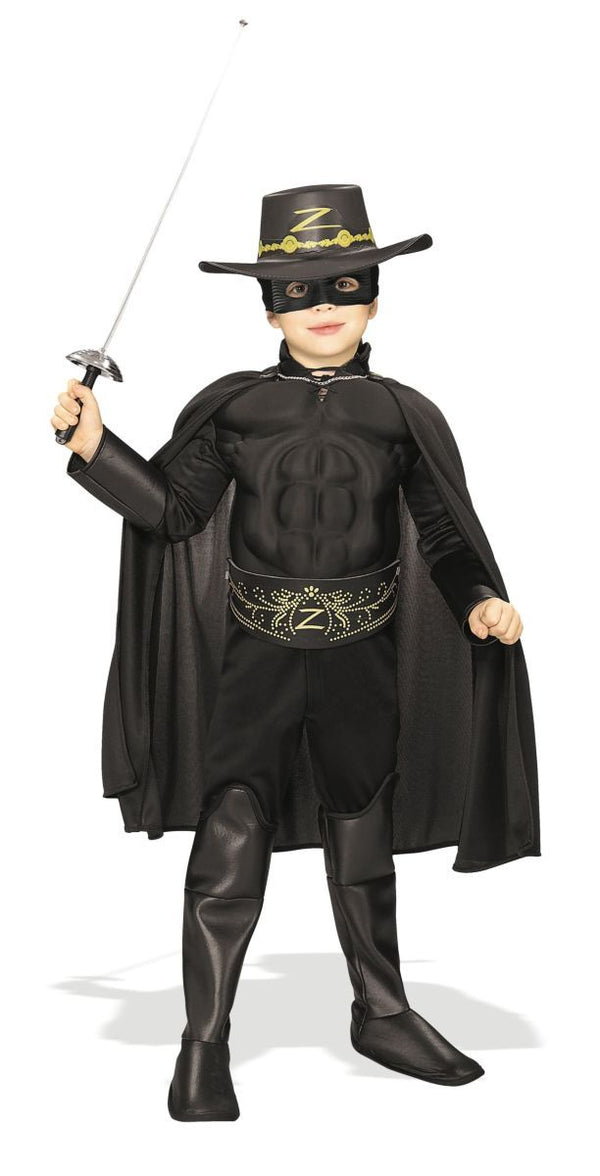 Rubies Deluxe Muscle Chest Kids Zorro Costume