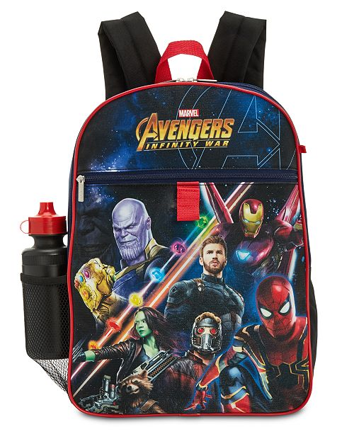 Marvel Avengers Little & Big Boys 5-Pc. Backpack & Accessories Set - Aj costumes