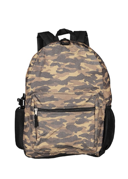 CAMO-PRINT BACKPACK, CAMOUFLAGE BROWN COMBO-Aj costumes - Shopzinia Egypt