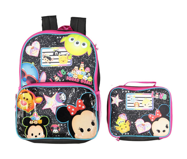 DISNEY TSUM TSUM BACKPACK LUNCH BAG SET-Aj costumes