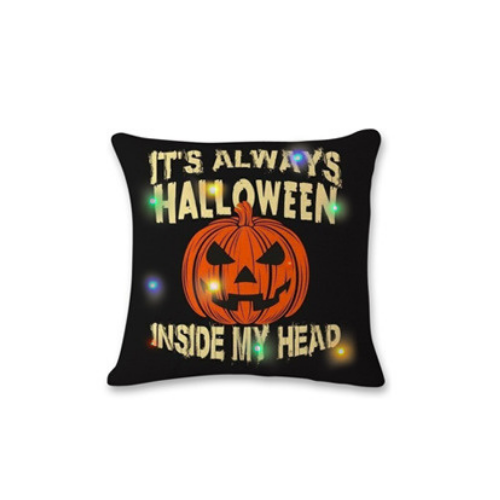 Happy Halloween Square Throw Pillow Case Cotton Linen Cushion Cover Pumpkin