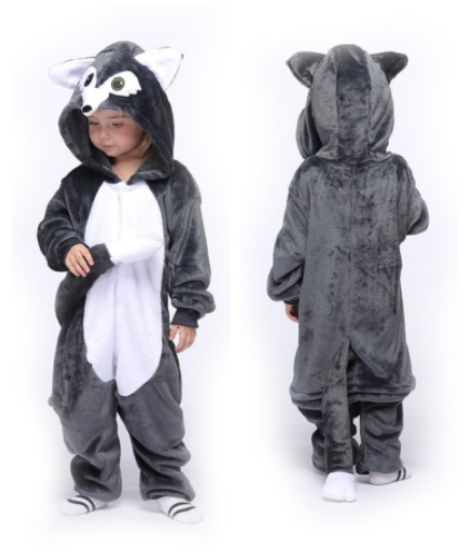 Flannel Baby Animal Wolf Pajamas Clothing Onesie Costume