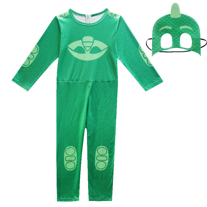 PJ Mask Birthdays Cosplay Costume Kids-Green -AJ COSTUMES