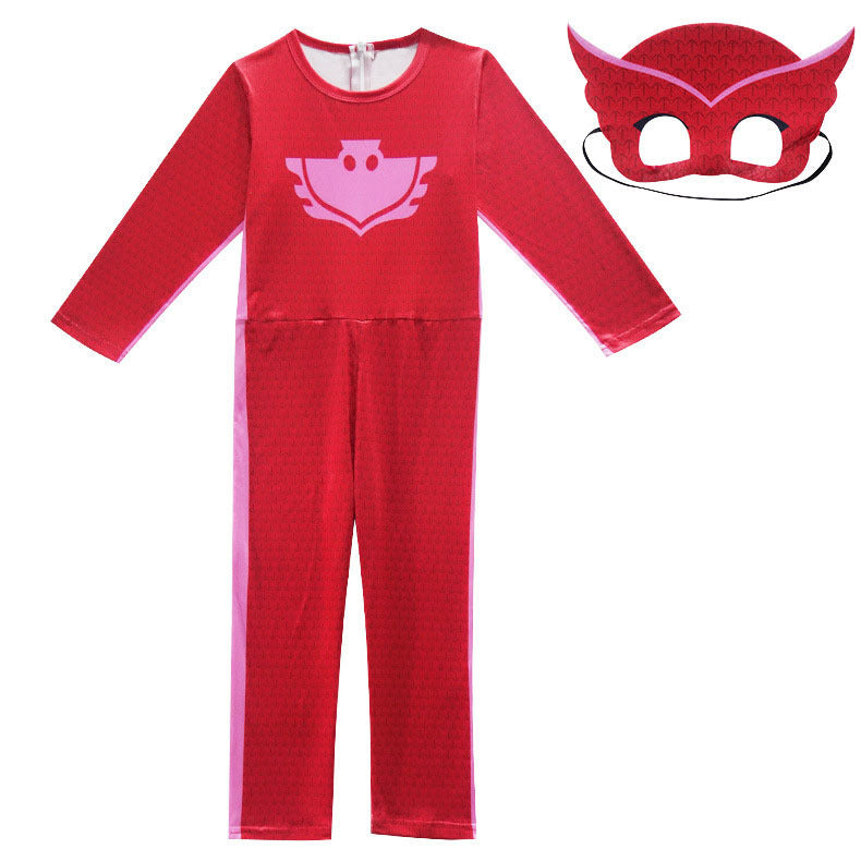 PJ Mask Birthdays Cosplay Costume Kids-Red -AJ COSTUMES