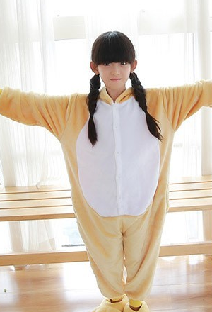 AJ Costumes-Yellow Bear