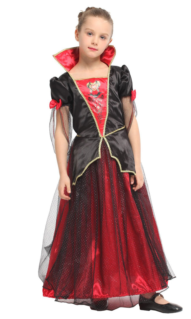 Vampire Princess Dress Children Halloween Party Cosplay Costumes -Aj Costumes