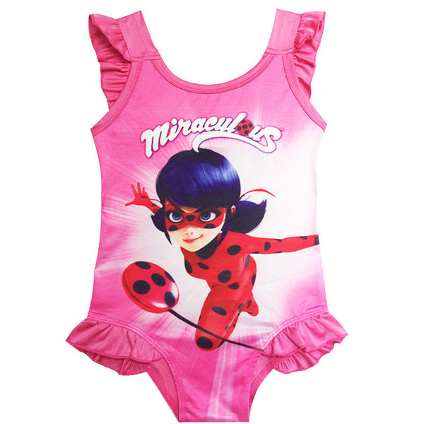 Girls Swimwear - Ladybug Costume Swimwear One Piece Set-Aj costumes