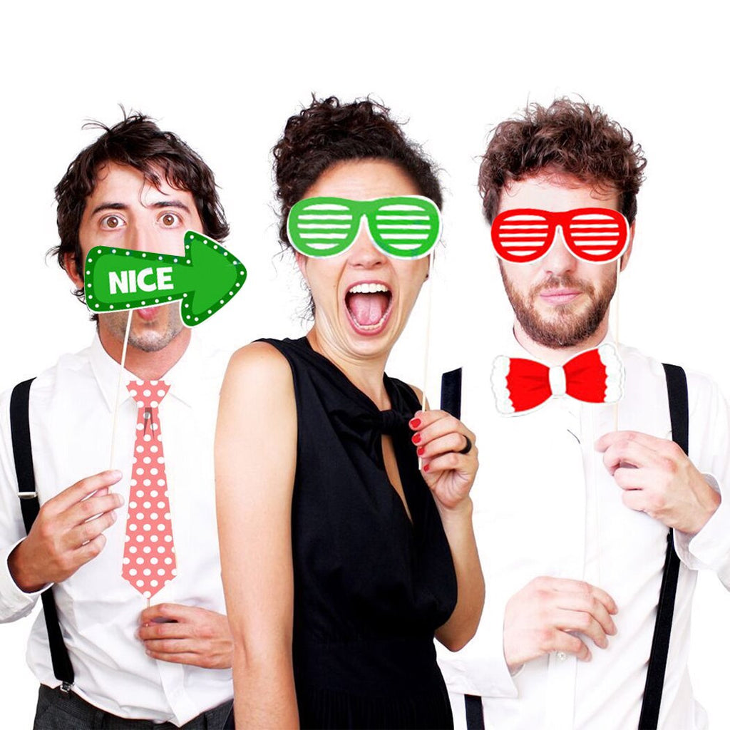 Funny Photo Mask-New Year Christmas Photo Booth Paper- Party Fun - Shopzinia Egypt