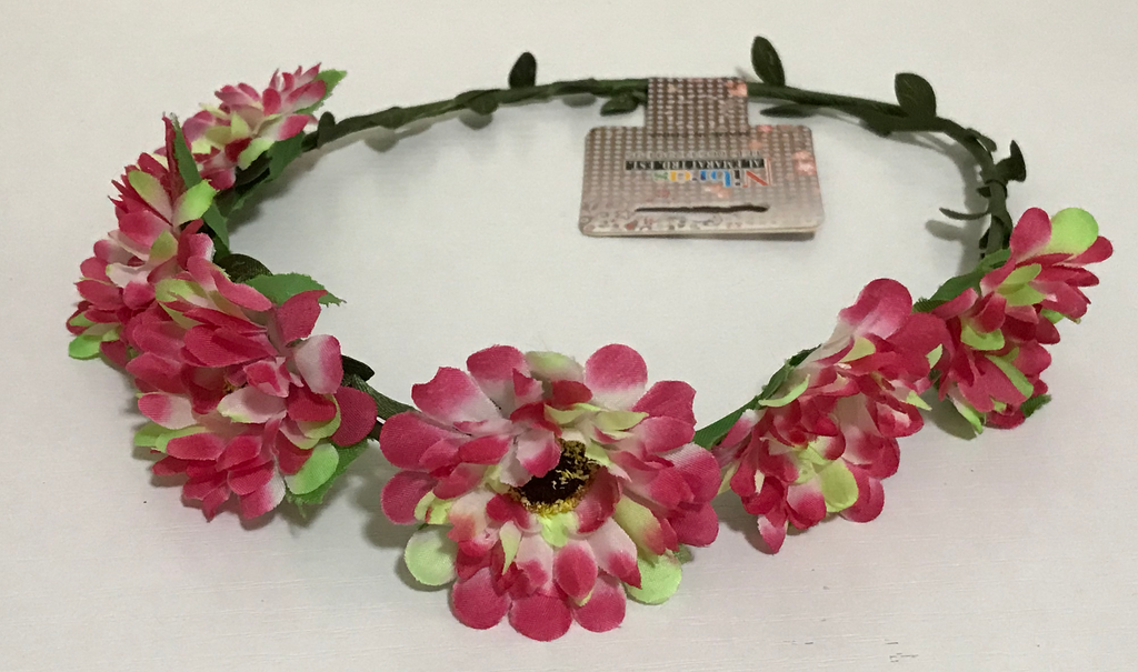 AJ -COSTUMES - New Flower Crown Headband