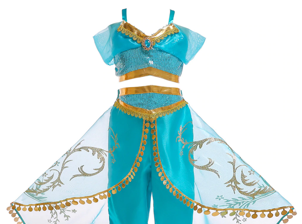 Jasmine Costume for Kids Blue - Aj Costumes