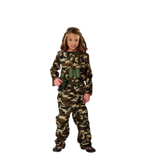 Army Officer Costume-Girl - AJ Costumes 105