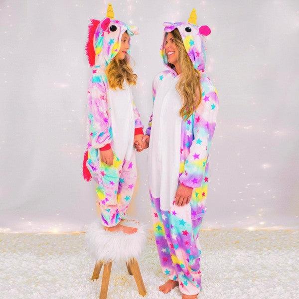 AJ Costumes- Kids Unicorn Multi Rainbow Unicorn Kigurumi - Shopzinia Egypt