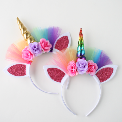 AJ Costumes-Unicorn Flower Headband