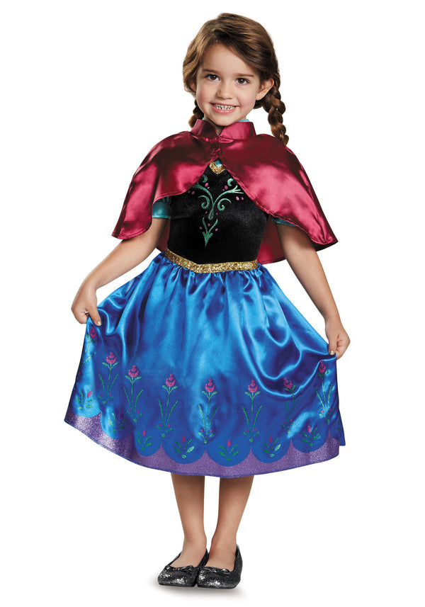 AJ Costumes Characters Costumes-princess-Anna- Girls-Dress-frozen 110