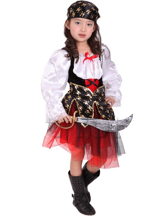CARIBBEAN PIRATE GIRL-Halloween -ghost-Aj Costumes - Shopzinia Egypt