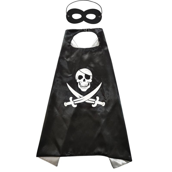 HALLOWEEN CAPE & MASK SET Costume Set pirate-ghost -Aj Costumes