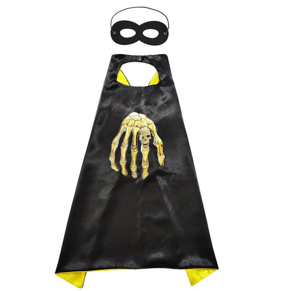 HALLOWEEN CAPE & MASK SET Costume Set Skull-ghost-Aj Costumes