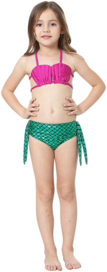 swimsuit Tail with Mono fin Kids Green Set For Girls-AJ-COSTUMES - Shopzinia Egypt
