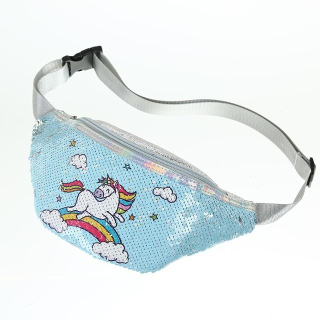 Cartoon Kid Plush Waist Bag Cute Fanny Pack for Baby Girl Unicorn Chest Bag Women Fanny Packs