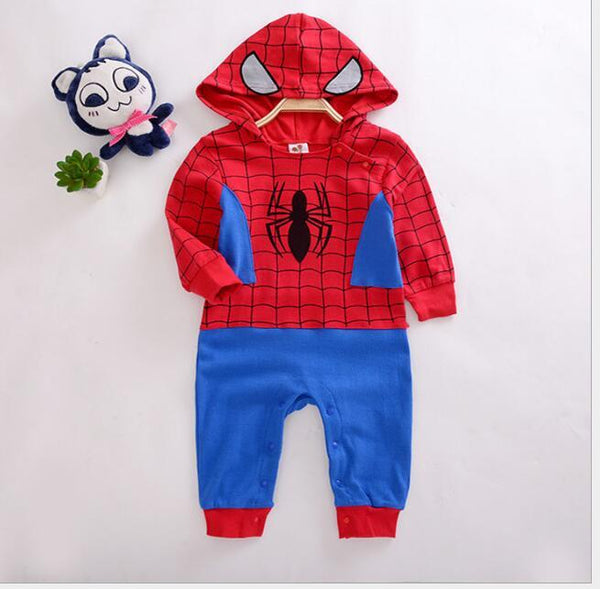 Aj Costumes- Jumpsuit Spider man Baby Romper - Shopzinia Egypt