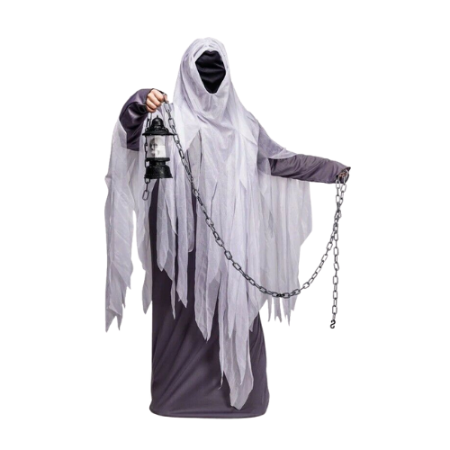 Halloween Men's Ghost Costume Role Play Hooded Cosplay Party Adult Scary Dress