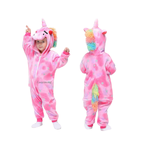 Unicorn Pajamas Onesie Pink Unicorn Sleepwear Pajama Party